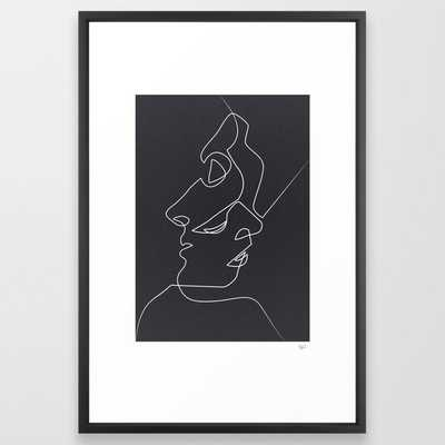 "Close Noir Framed Art Print by Quibe - Vector Black Frame -20""x26"" - Society6"