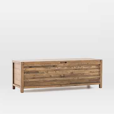 Bay Reclaimed Pine Storage Bench - Rustic Natural - West Elm