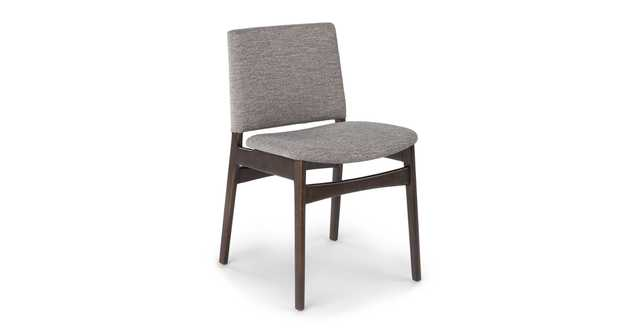 Nosh Quarry Gray Smoke Dining Chair - Article