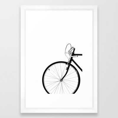 Bicycle, Bike Framed Art Print, vector white frame, 15x21 - Society6