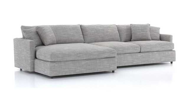 Lounge II 2-Piece Left Arm Double Chaise Sectional Sofa - Crate and Barrel