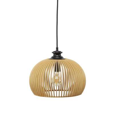Mariano Wood Cage 1-Light Dome Pendant - Wayfair