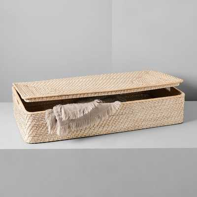 Modern Weave Underbed Storage Basket, Whitewashed - West Elm