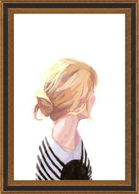 "Bun 3 -  10"" x 14"" Framed Print  Black Gold Reverse Wood with no Matte - Artfully Walls"