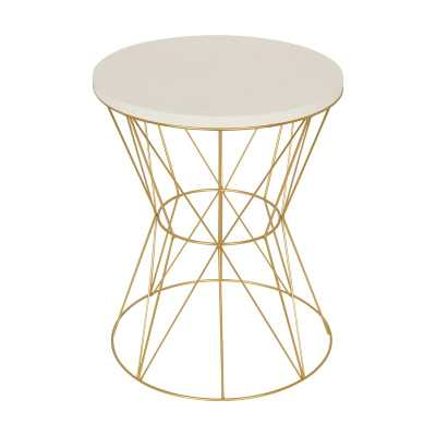 Gove End Table - White/Gold - Wayfair