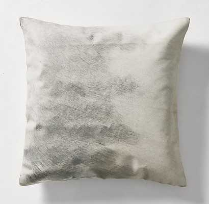 HAND-PAINTED METALLIC HIDE PILLOW COVER - SQUARE - RH