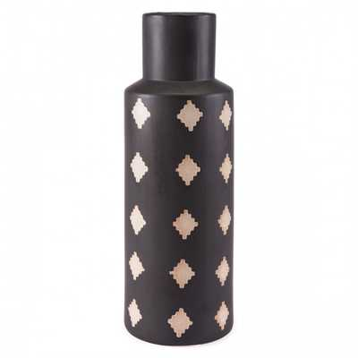 Pampa Bottle Lg Black & Beige - Zuri Studios