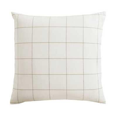 Jones Windowpane Pillow Ivory/Natural  - Ballard Designs - Ballard Designs