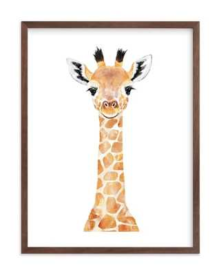 baby animal giraffe by Cass Loh - Minted