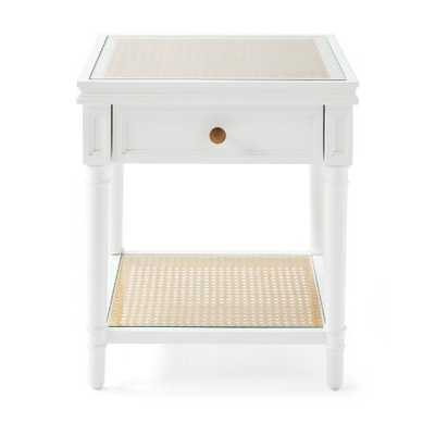Harbour Cane Side Table- white - Serena and Lily