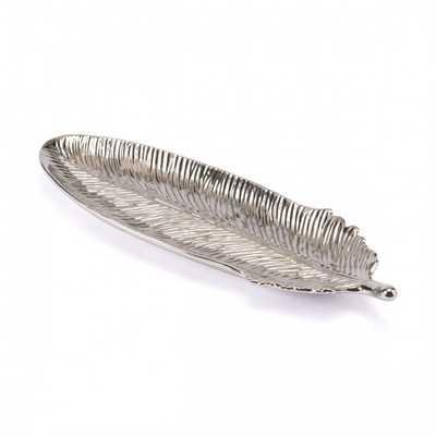 Silver Feather Md Silver - Zuri Studios