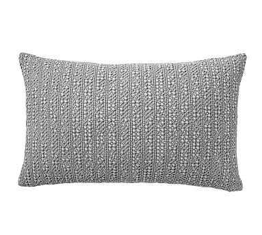 "Honeycomb Lumbar Pillow Cover, 16 x 26"", Flagstone - Pottery Barn"