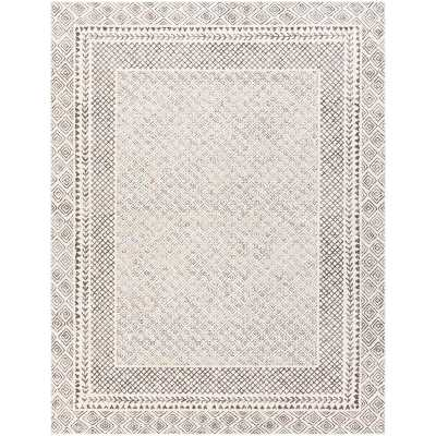 Calvo Power Loom Gray/Beige Indoor Area Rug - Wayfair