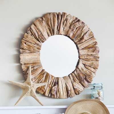 Anshul Drift Wood Accent Mirror - Wayfair