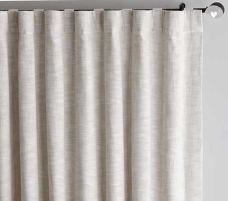 "Seaton Textured Curtain, 50"" x 84"",  Cotton Lining, Neutral - Pottery Barn"