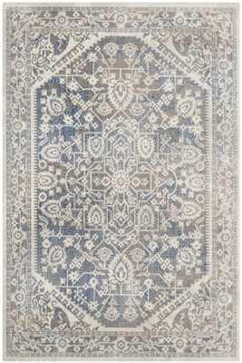 """Arlo Home Woven Area Rug, PTN318A, Grey/Blue,  6' 7"""" X 9' - Arlo Home"""