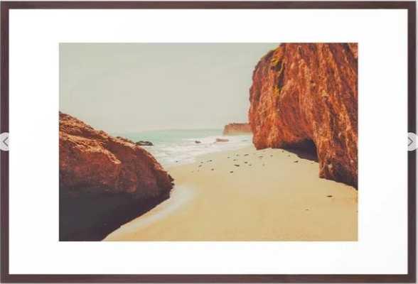 Beach Day - Ocean, Coast - Landscape Nature Photography Framed Art Print - Society6
