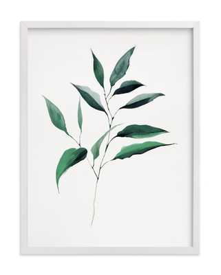 Magnolia Foliage // 18x24 // no Matte // White Wood Frame - Minted