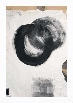 Sgraffito 402 - 10x14 - White Wood Frame, no Matte - Artfully Walls