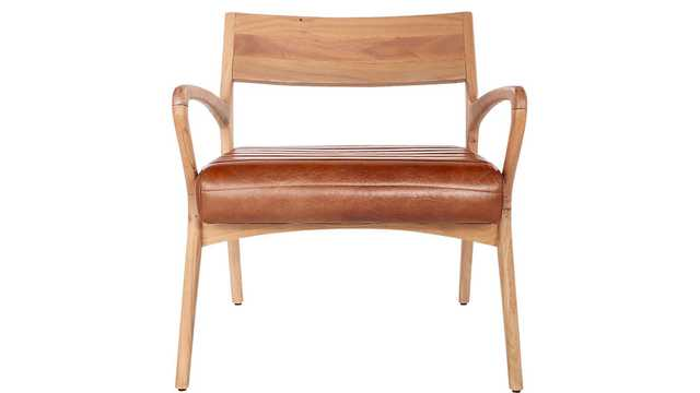 ALLEGRO WOOD AND LEATHER CHAIR - CB2