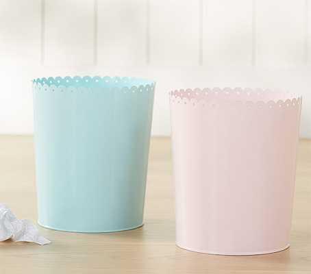 Scallop Trash Can, Light Pink - Pottery Barn Kids