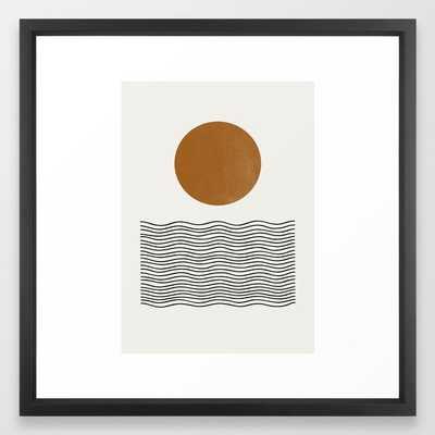 Abstract Landscape, Gold Sun Framed Art Print - Society6