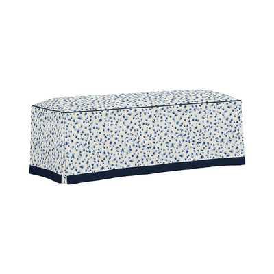 Nona Skirted Bench - Mira Blue - Welt Twill Indigo, Skirt Twill Indigo - Ballard Designs