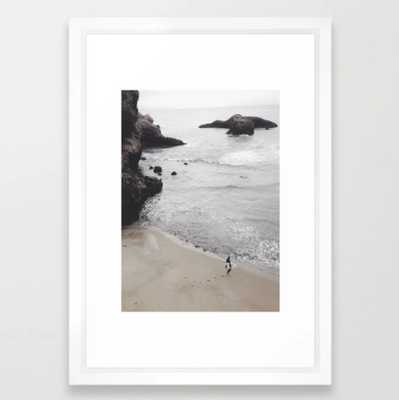 "Soul Surfer Framed Art Print; Vector White - Small 15"" x 21"" - Society6"