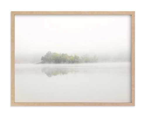 the island - natural raw wood frame, 24 x 18 - Minted
