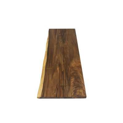 6 ft. L x 3 ft. 2 in. D x 1.5 in. T Butcher Block Countertop in Oiled Acacia with Live Edge - Home Depot