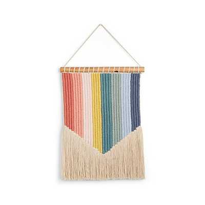 Vertical Rainbow Wall Hanging - CB2