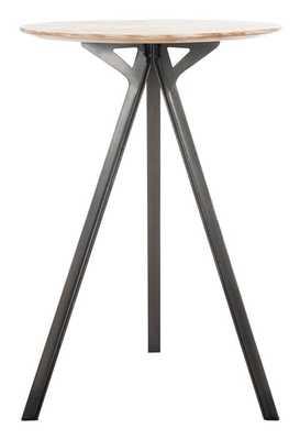 Axel Tripod Pub Table - Grey Wash/Black - Arlo Home - Arlo Home