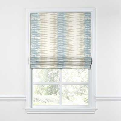 "Flat Roman Shade Ashbury - Oasis // 69-3/4""W x 57-3/4""H // // Inside Mount // Right Control // Blackout Lining - Loom Decor"