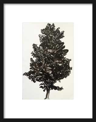 "Summer Tree - 8x11"" - thin black wood framed with mat - Artfully Walls"