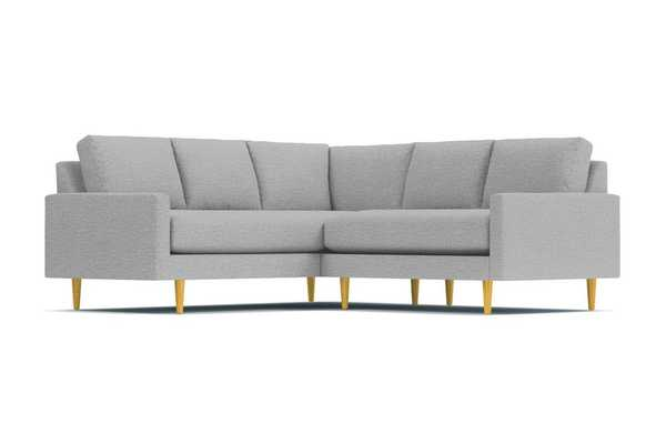 Scott 2pc L-Sectional Sofa, Silver, Natural - Apt2B