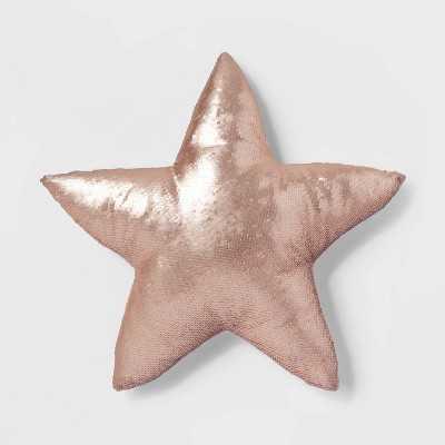 Star Sequins Throw Pillow Pink - Pillowfort™ - Target