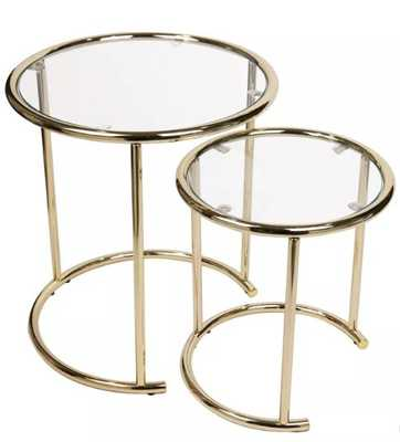 Danya B. Set of 2 Nested Round End Side Tables for Small Spaces - Target
