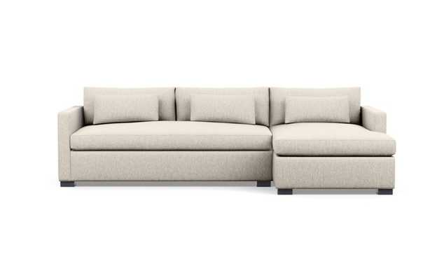 Charlie Sleeper Sectional Right Chaise / Wheat - Cross Weave - Interior Define