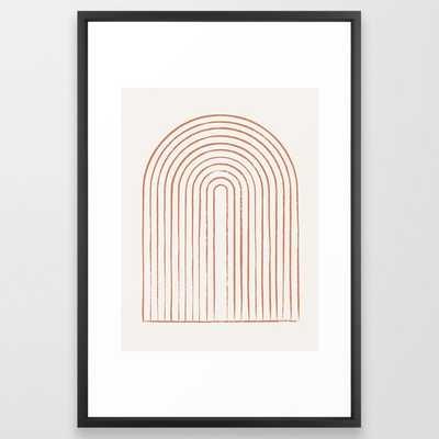 Arch Dusty Orange Framed Art Print - Society6