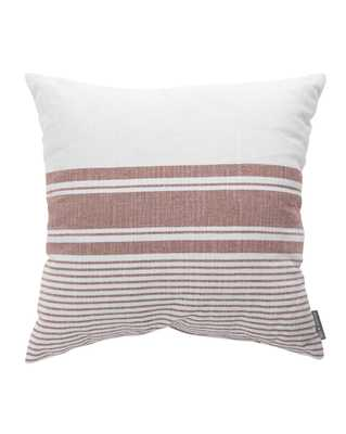 "SIERRA STRIPE INDOOR / OUTDOOR PILLOW WITH INSERT, RUST, 20"" x 20"" - McGee & Co."