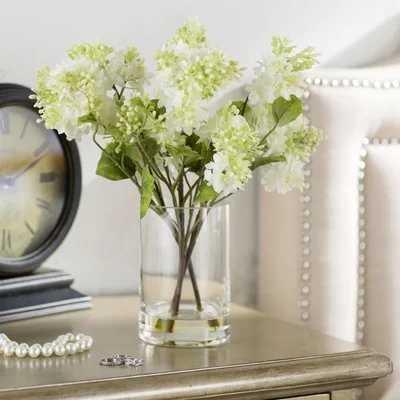 Quincy Lilac Silk Flower Arrangement in Vase - Wayfair