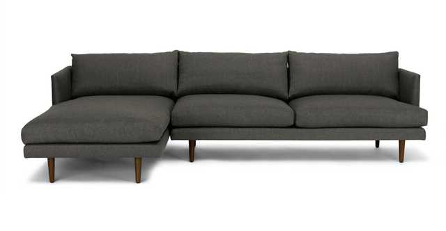 Burrard Graphite Gray Left Sectional Sofa - Article