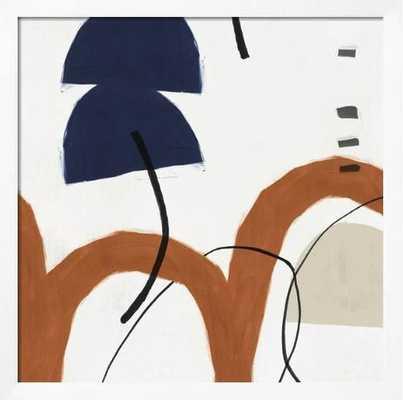 """Elasticity II 39"""" x 39"""" Art Print - Chelsea White 0.75"""" Frame - No Matte - art.com"""