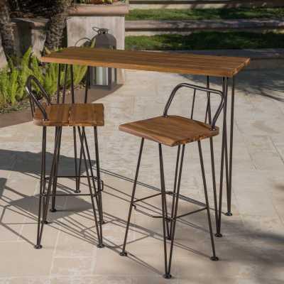 Loya Outdoor Bar Set - Wayfair