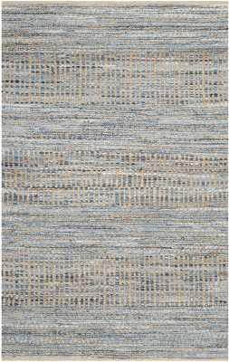 Kellar Hand-Woven Natural/Blue Area Rug, 8'x10' - Wayfair