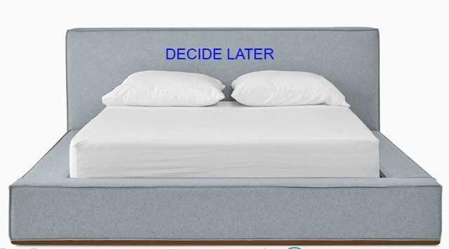 Lucca Mid Century Modern Bed - DECIDE LATER fabric - Queen - Joybird