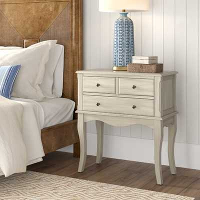 Garrett 3 Drawer Nightstand - Wayfair