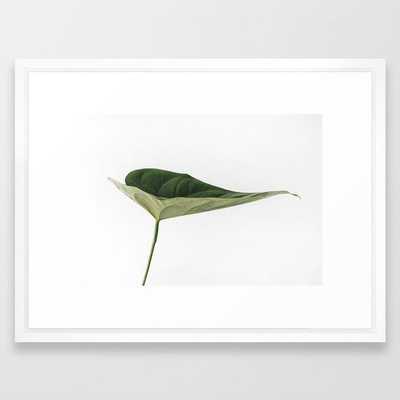 """Wall Art - Leaves Breathe Life - Framed Print Vector White - 20"""" X 26"""" - Society6"""