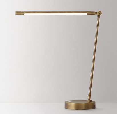 DECLAN TASK LAMP - AGED BRASS - RH Teen