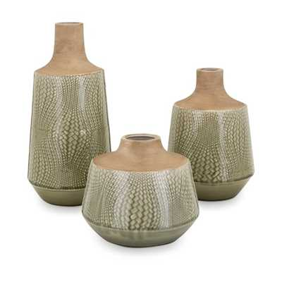 Hunter Vases - Set of 3 - Mercer Collection